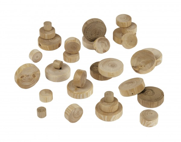 Schreinerpackung Ast-Flickzapfen aus Holz HSB