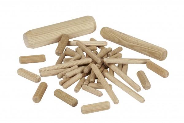 Tourillons en bois striés et chantfreinés sur demande